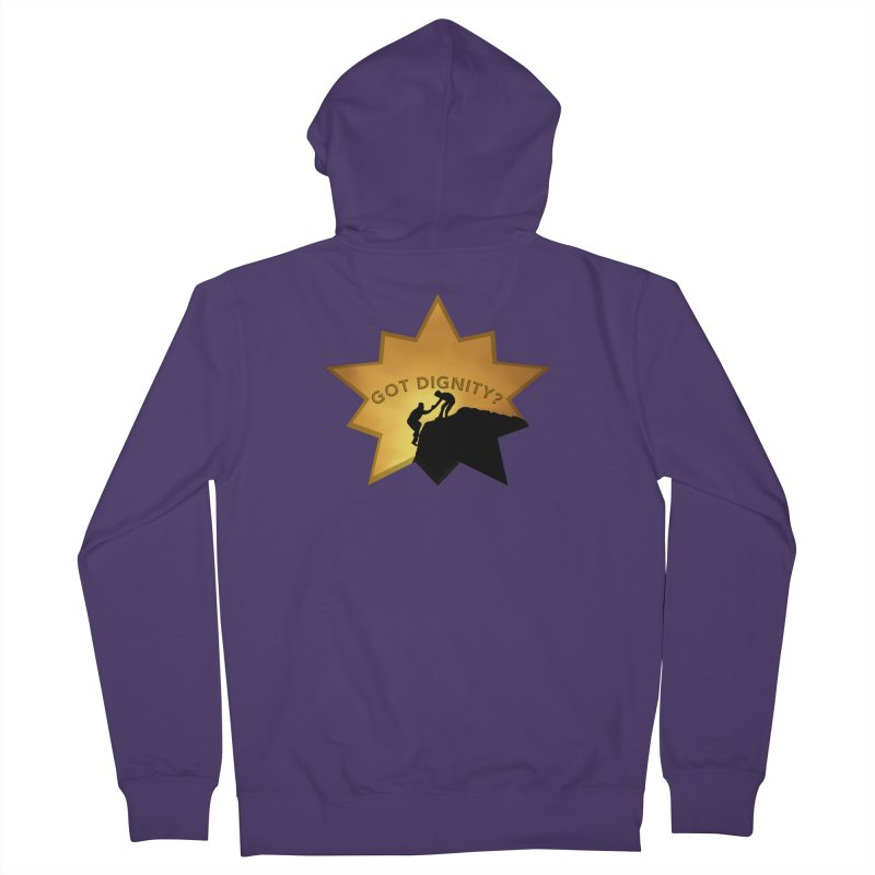 Got Dignity Shirts n More Women's French Terry Zip-Up Hoody by Leading Artist Shop