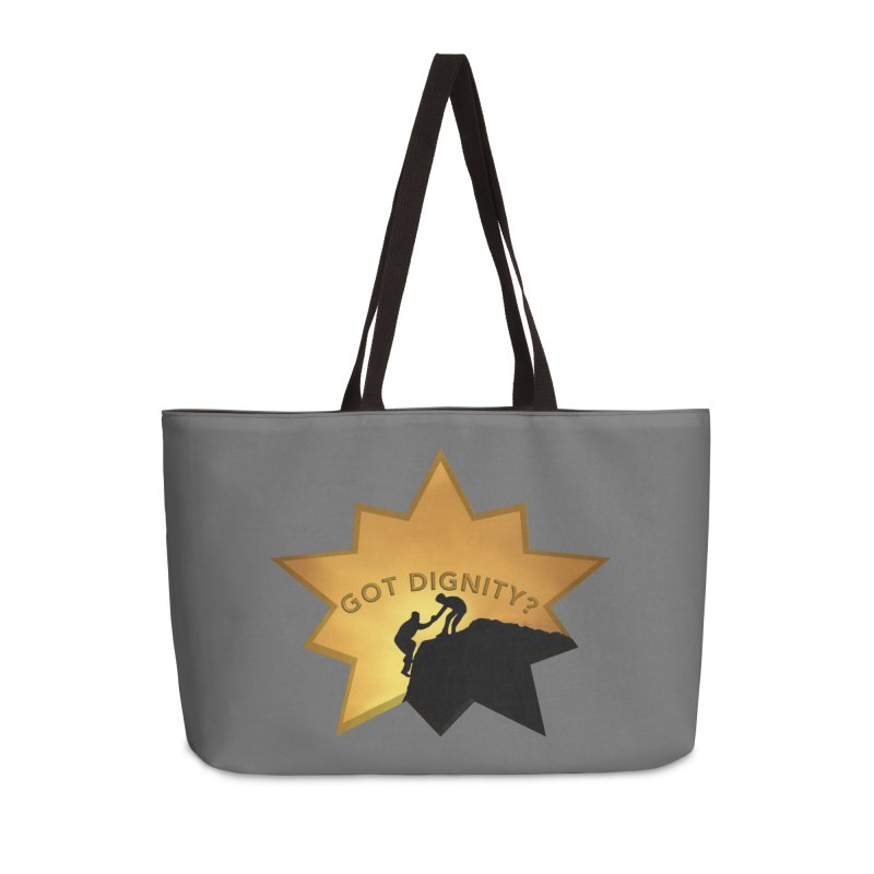 Got Dignity Shirts n More Accessories Weekender Bag Bag by Leading Artist Shop
