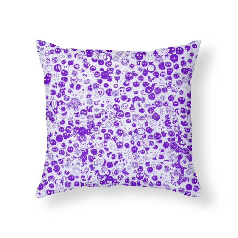 Fluffy Home Throw Pillow by Leading Artist Shop