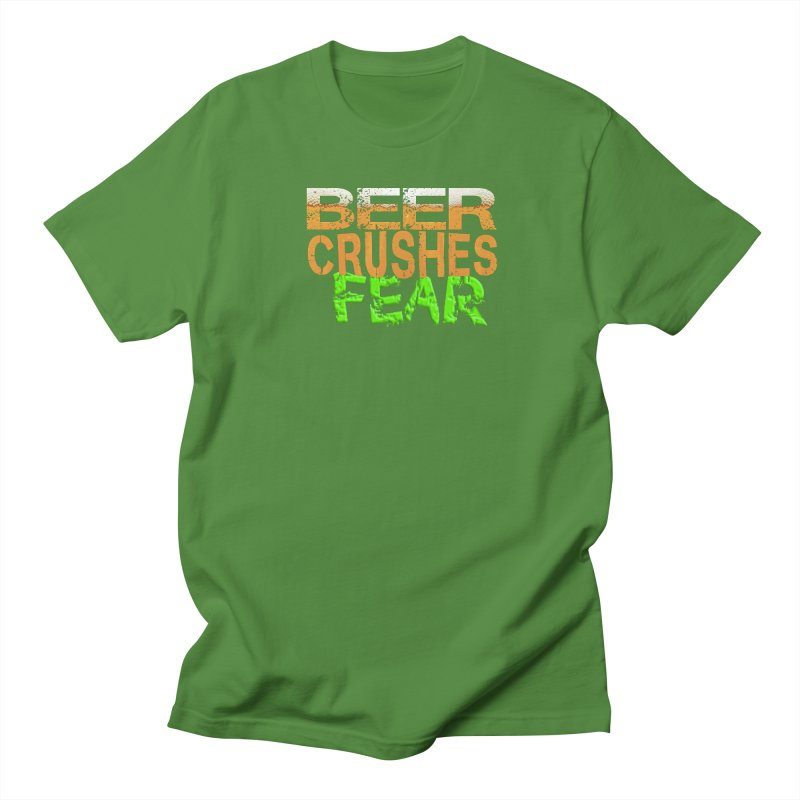 Beer Crushes Fear Men's Regular T-Shirt by Leading Artist Shop