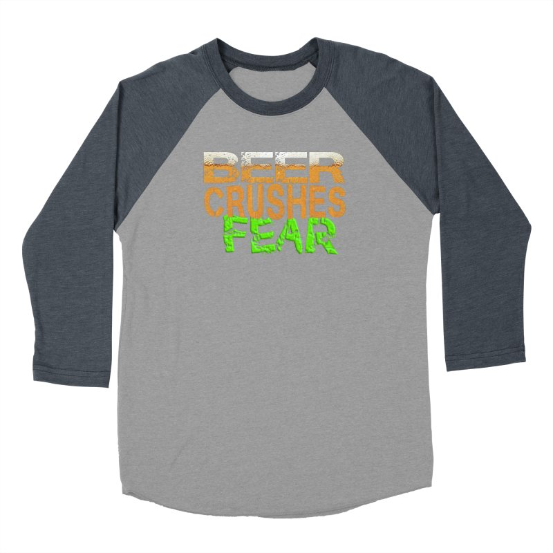 Beer Crushes Fear Men's Baseball Triblend Longsleeve T-Shirt by Leading Artist Shop