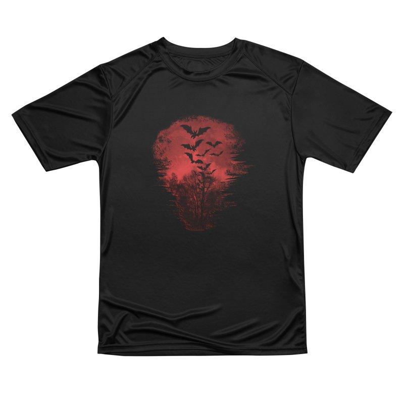 Halloween Bats Women's Performance Unisex T-Shirt by Leading Artist Shop