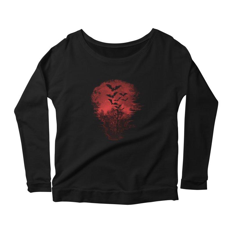 Halloween Bats Women's Scoop Neck Longsleeve T-Shirt by Leading Artist Shop