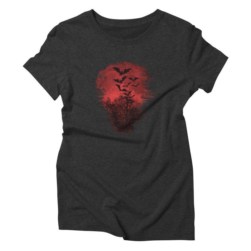 Halloween Bats Women's Triblend T-Shirt by Leading Artist Shop