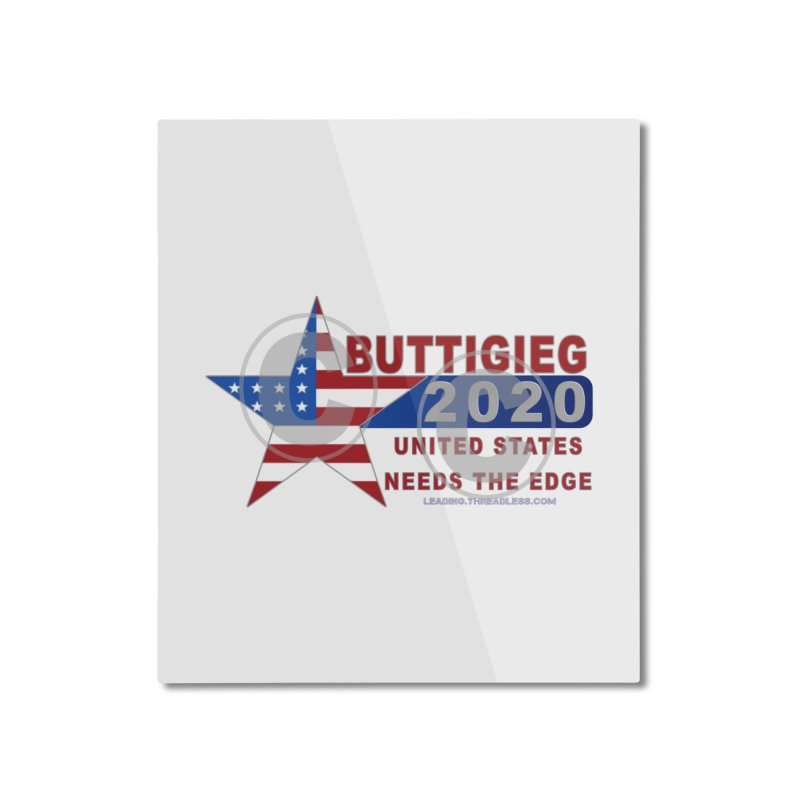 Pete Buttigieg Home Mounted Aluminum Print by Leading Artist Shop