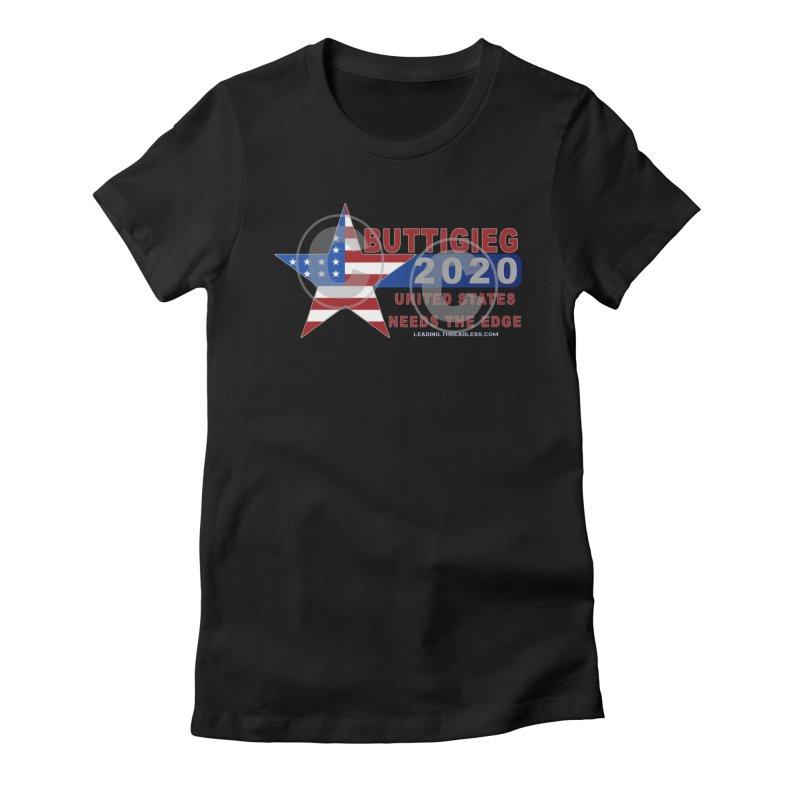 Pete Buttigieg Women's Fitted T-Shirt by Leading Artist Shop