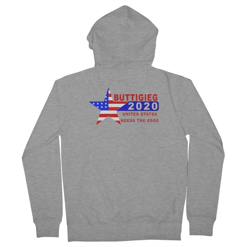 Pete Buttigieg 2020 Men's French Terry Zip-Up Hoody by Leading Artist Shop