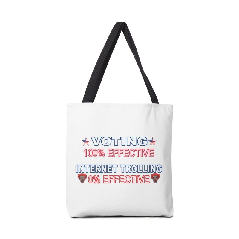 Voting 100% Effective Internet Trolling 0% Effective Accessories Tote Bag Bag by Leading Artist Shop