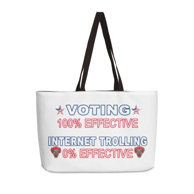 Voting 100% Effective Internet Trolling 0% Effective Accessories Weekender Bag Bag by Leading Artist Shop