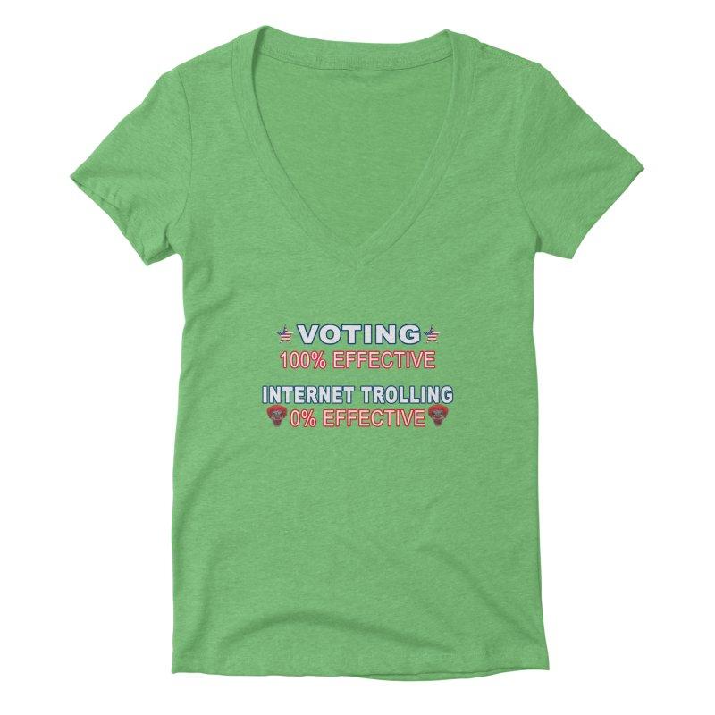 Voting 100% Effective Internet Trolling 0% Effective Women's Deep V-Neck V-Neck by Leading Artist Shop