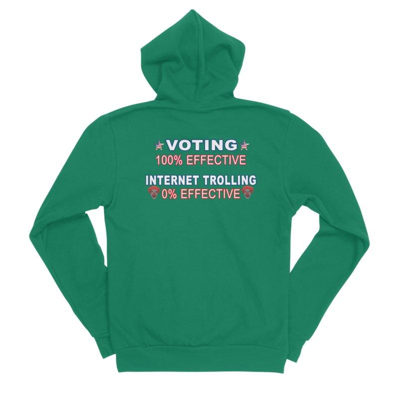 Voting 100% Effective Internet Trolling 0% Effective Men's Sponge Fleece Zip-Up Hoody by Leading Artist Shop