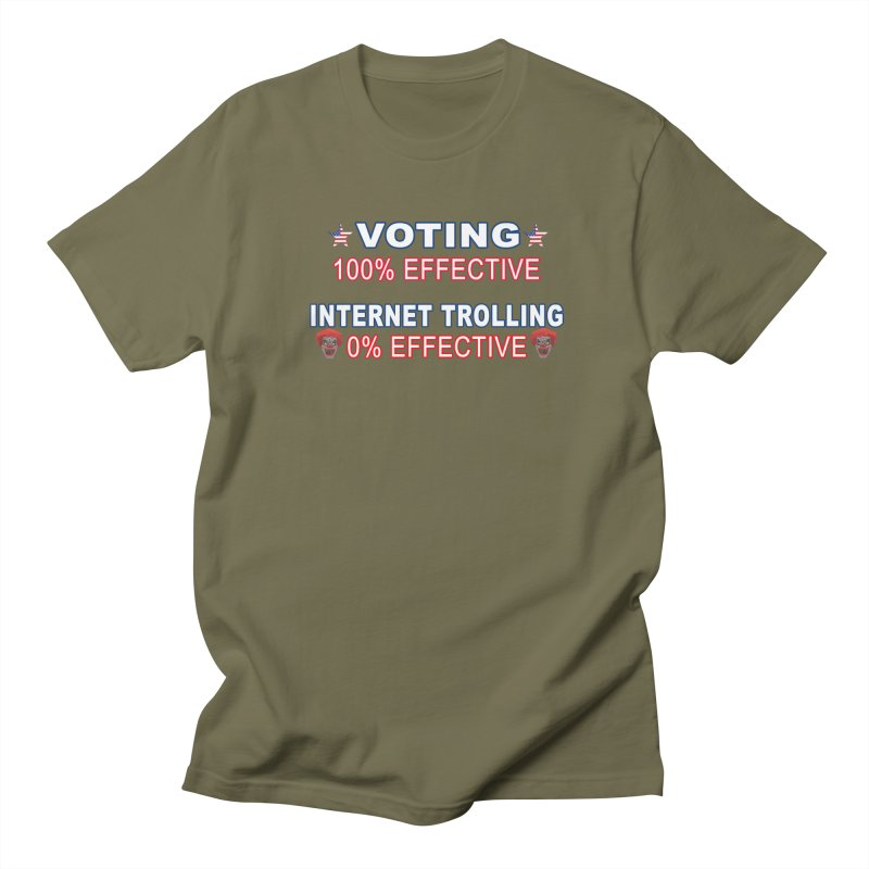 Voting 100% Effective Internet Trolling 0% Effective Men's Regular T-Shirt by Leading Artist Shop