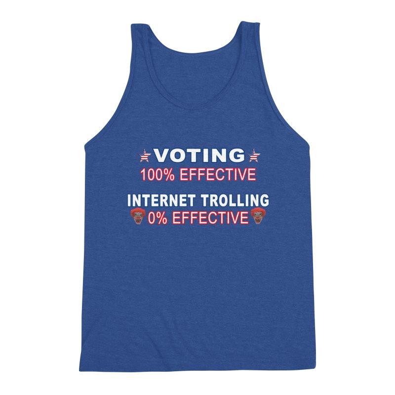 Voting 100% Effective Internet Trolling 0% Effective Men's Triblend Tank by Leading Artist Shop