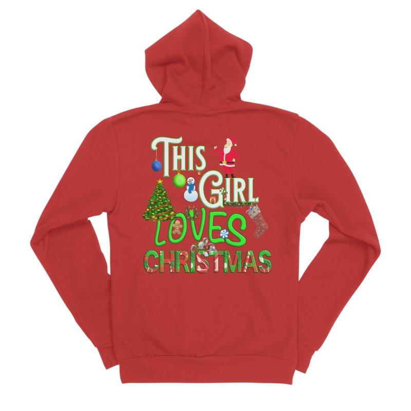 This Girl Loves Christmas Men's Sponge Fleece Zip-Up Hoody by Leading Artist Shop