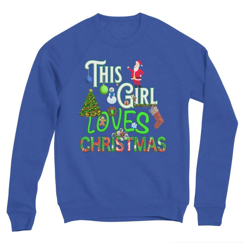 This Girl Loves Christmas Men's Sponge Fleece Sweatshirt by Leading Artist Shop