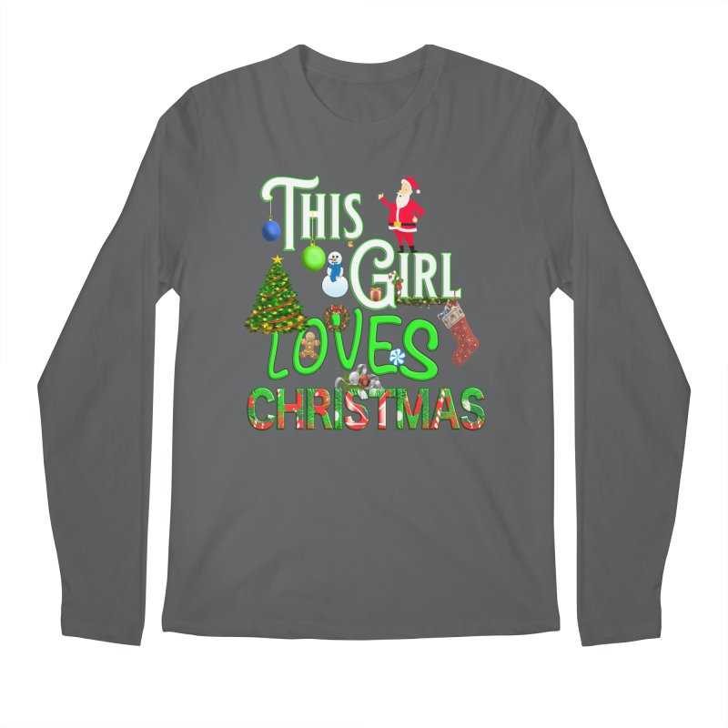 This Girl Loves Christmas Men's Regular Longsleeve T-Shirt by Leading Artist Shop