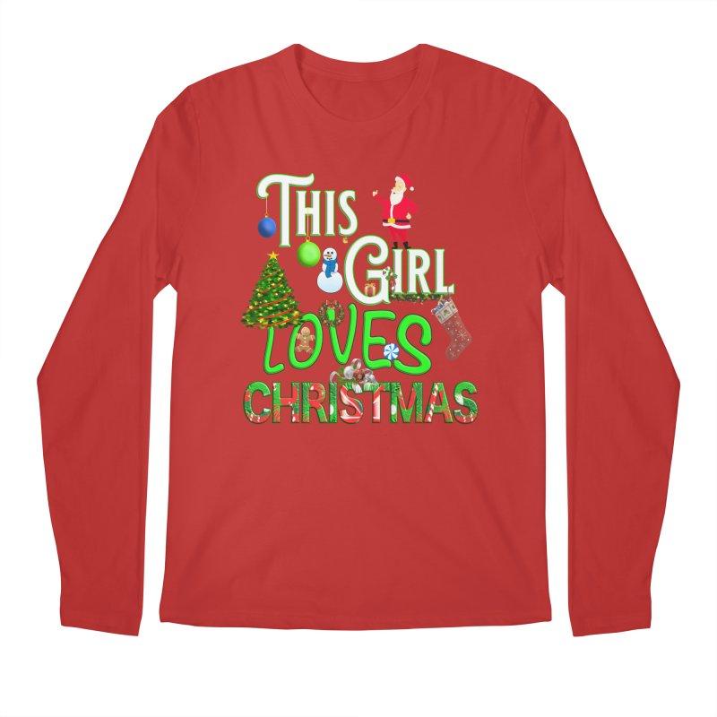 This Girl Loves Christmas Men's Regular Longsleeve T-Shirt by Leading Artist Shop