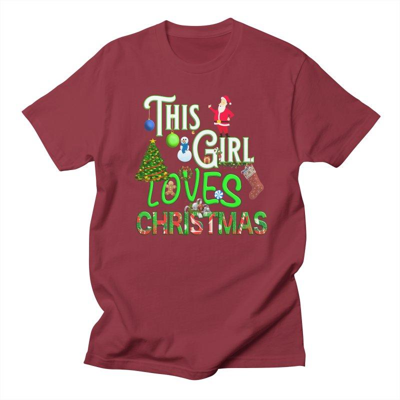 This Girl Loves Christmas Women's Regular Unisex T-Shirt by Leading Artist Shop