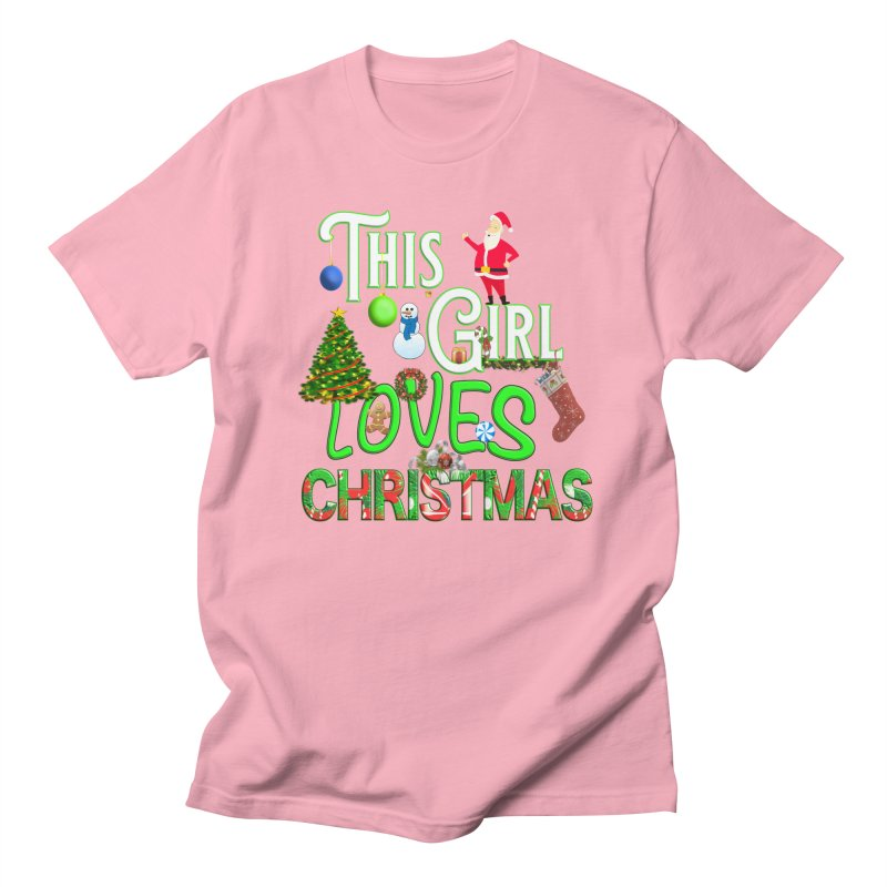 This Girl Loves Christmas Men's Regular T-Shirt by Leading Artist Shop