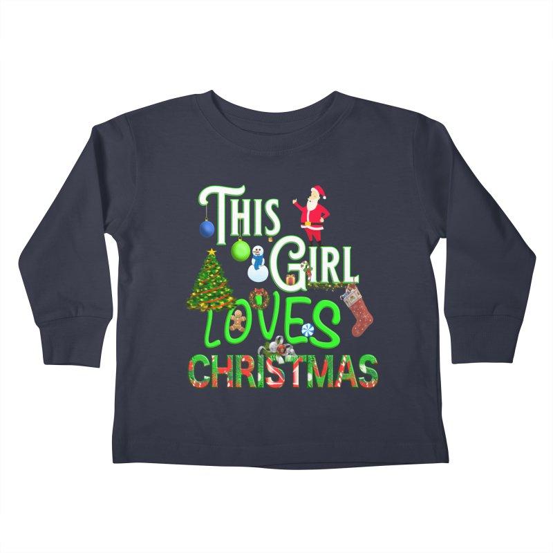This Girl Loves Christmas Kids Toddler Longsleeve T-Shirt by Leading Artist Shop