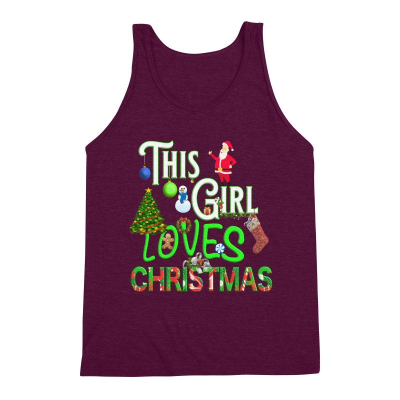 This Girl Loves Christmas Men's Triblend Tank by Leading Artist Shop