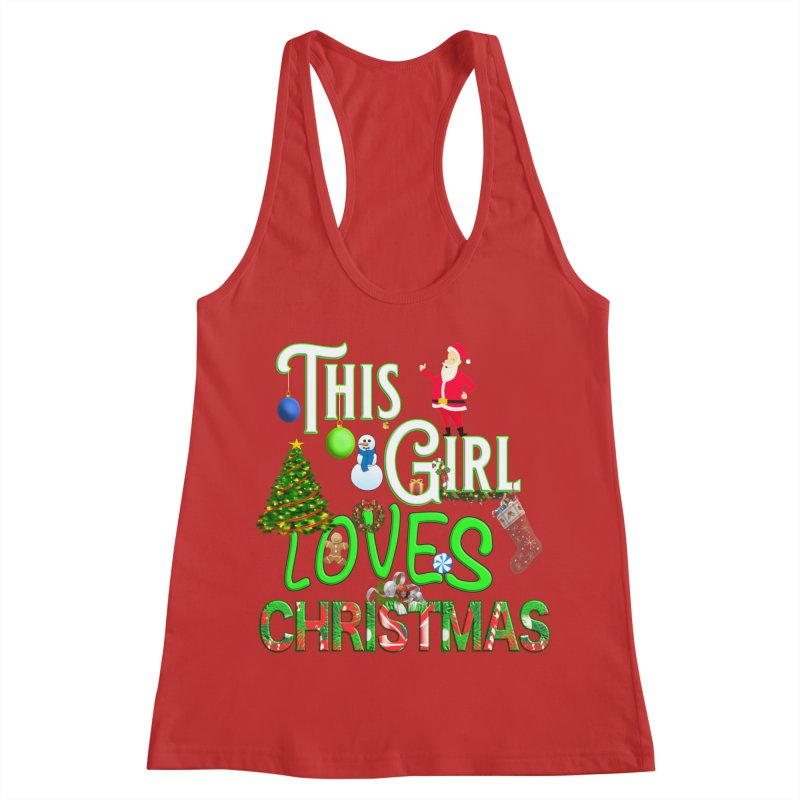 This Girl Loves Christmas Women's Tank by Leading Artist Shop
