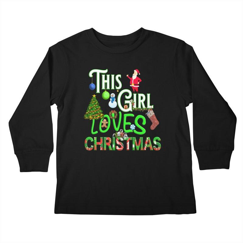 This Girl Loves Christmas Kids Longsleeve T-Shirt by Leading Artist Shop