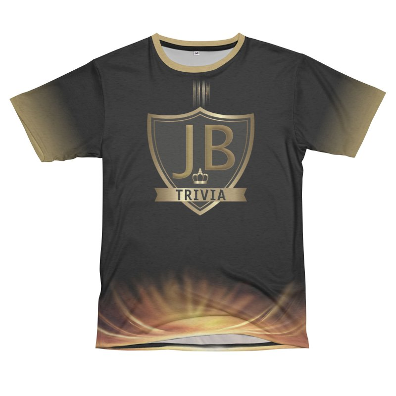 JB Trivia Black Gold Men's French Terry T-Shirt Cut & Sew by Leading Artist Shop