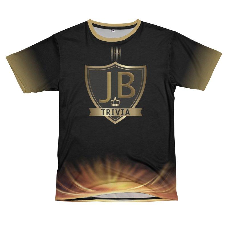 JB Trivia Black Gold Women's Unisex T-Shirt Cut & Sew by Leading Artist Shop