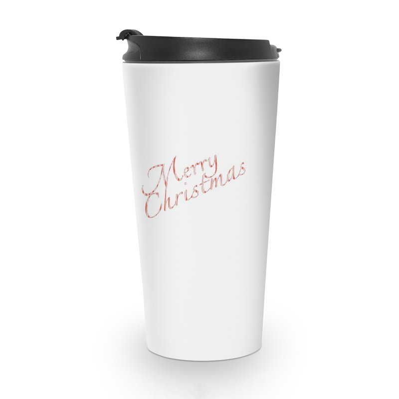 Merry Christmas Shirt Candy Cane Text Accessories Travel Mug by Leading Artist Shop