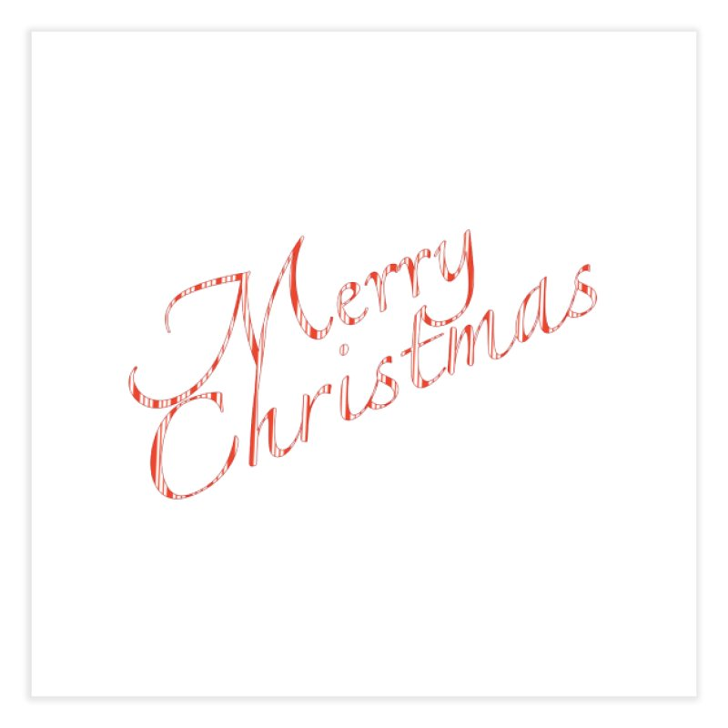 Merry Christmas Shirt Candy Cane Text Home Fine Art Print by Leading Artist Shop