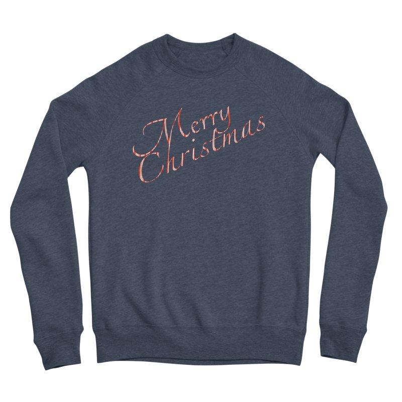 Merry Christmas Shirt Candy Cane Text Men's Sponge Fleece Sweatshirt by Leading Artist Shop