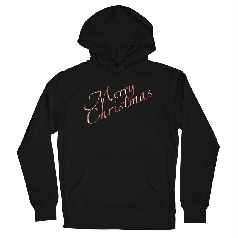 Merry Christmas Shirt Candy Cane Text Men's French Terry Pullover Hoody by Leading Artist Shop
