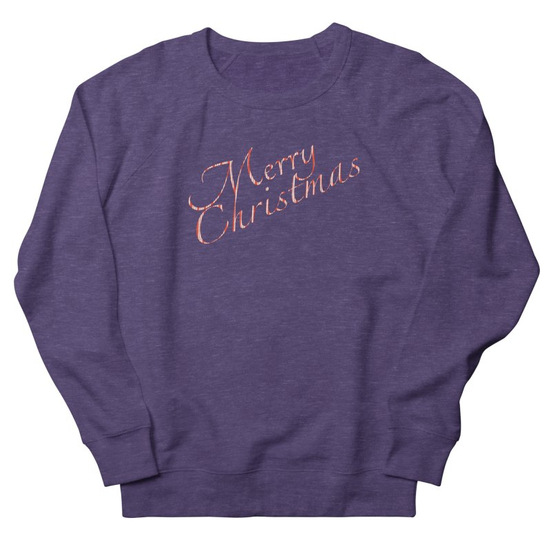 Merry Christmas Shirt Candy Cane Text Men's French Terry Sweatshirt by Leading Artist Shop