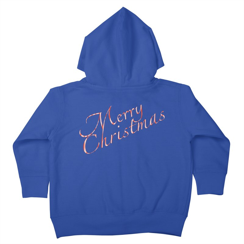 Merry Christmas Shirt Candy Cane Text Kids Toddler Zip-Up Hoody by Leading Artist Shop