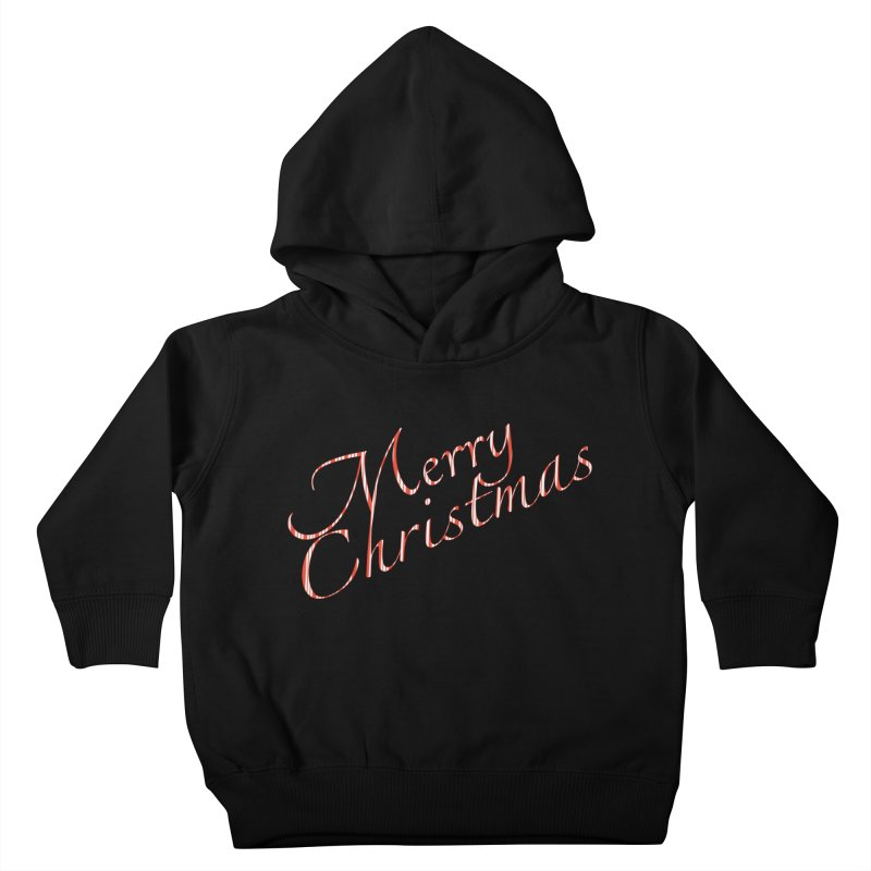 Merry Christmas Shirt Candy Cane Text Kids Toddler Pullover Hoody by Leading Artist Shop