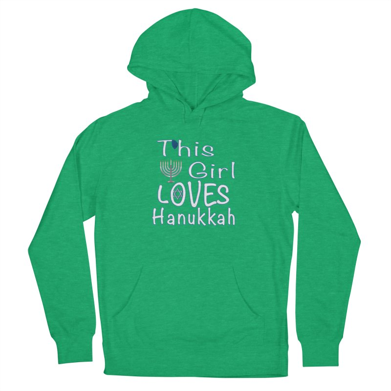 This Girl Loves Hanukkah Shirts n More Men's French Terry Pullover Hoody by Leading Artist Shop