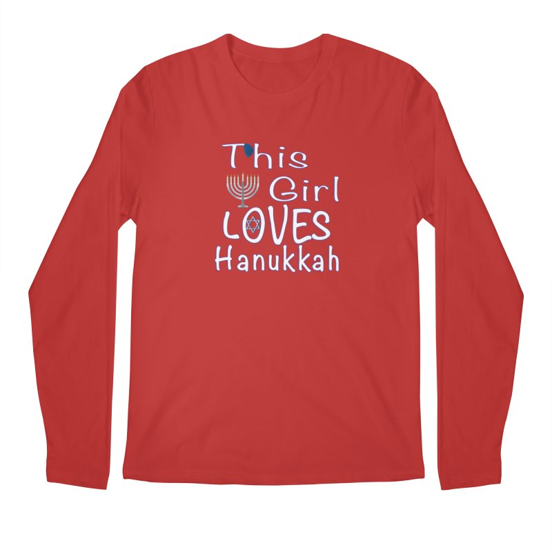 This Girl Loves Hanukkah Shirts n More Men's Regular Longsleeve T-Shirt by Leading Artist Shop