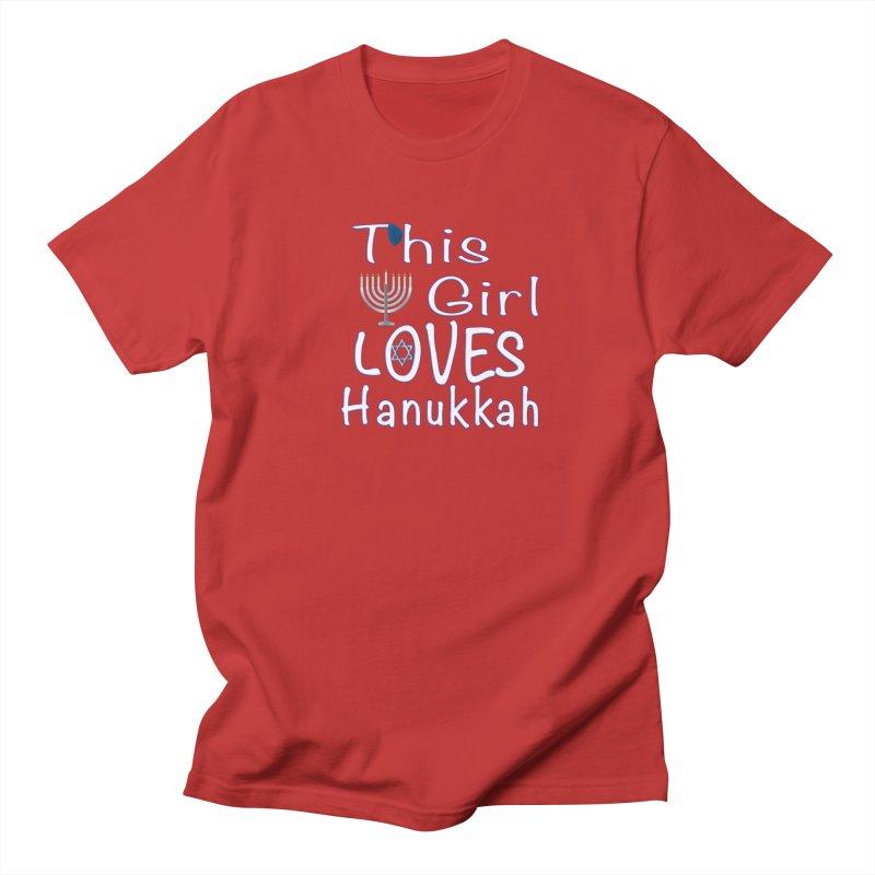 This Girl Loves Hanukkah Shirts n More Women's Regular Unisex T-Shirt by Leading Artist Shop