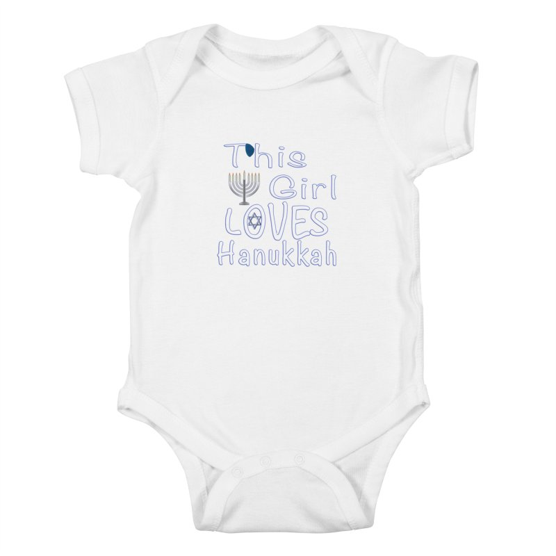 This Girl Loves Hanukkah Shirts n More Kids Baby Bodysuit by Leading Artist Shop