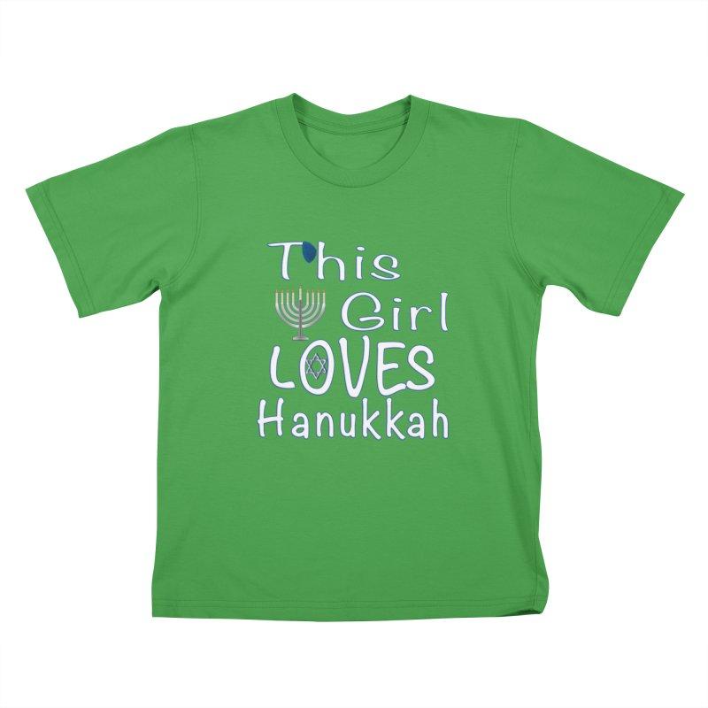 This Girl Loves Hanukkah Shirts n More Kids T-Shirt by Leading Artist Shop