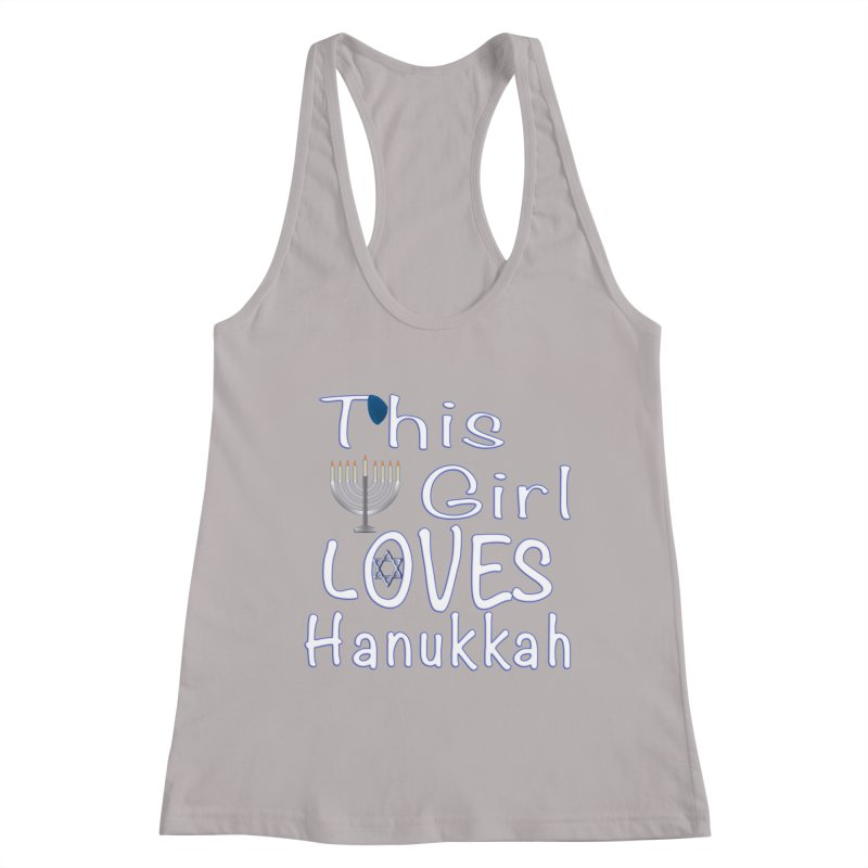 This Girl Loves Hanukkah Shirts n More Women's Racerback Tank by Leading Artist Shop