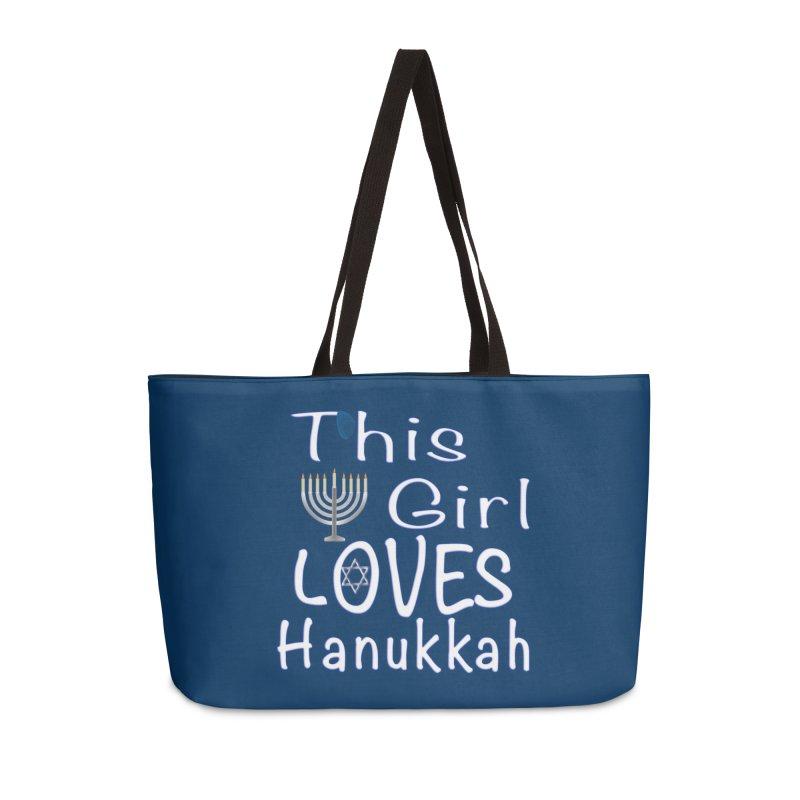 This Girl Loves Hanukkah Shirts n More Accessories Weekender Bag Bag by Leading Artist Shop
