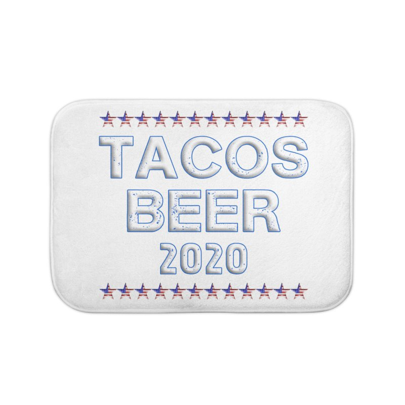 Tacos Beer 2020 With Stars Home Bath Mat by Leading Artist Shop