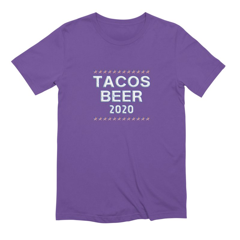 Tacos Beer 2020 With Stars Men's Extra Soft T-Shirt by Leading Artist Shop