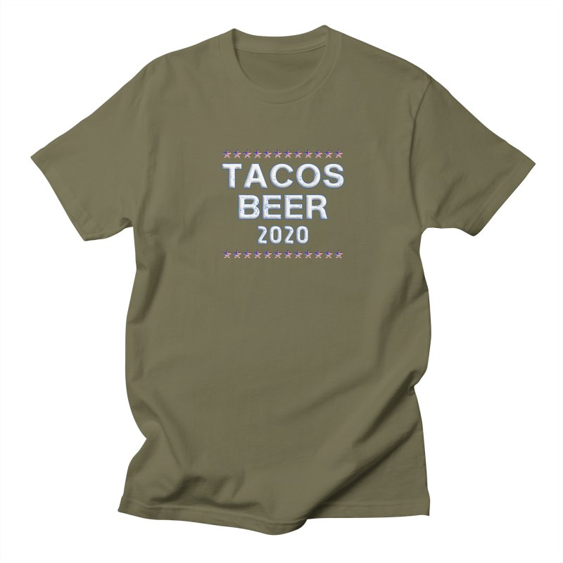 Tacos Beer 2020 With Stars Men's Regular T-Shirt by Leading Artist Shop