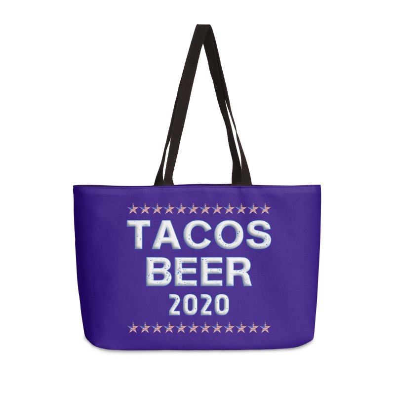 Tacos Beer 2020 With Stars Accessories Weekender Bag Bag by Leading Artist Shop