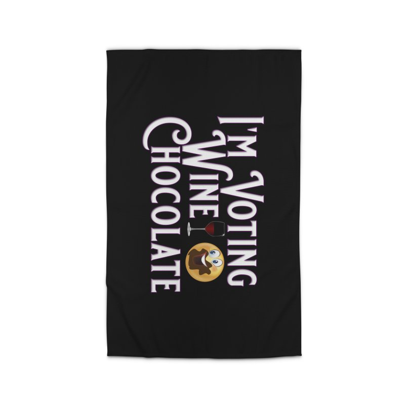 Voting Wine Chocolate Home Rug by Leading Artist Shop
