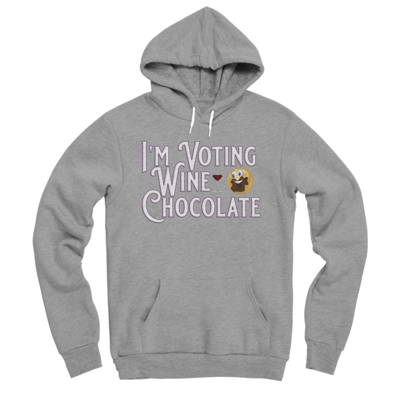 Voting Wine Chocolate Men's Sponge Fleece Pullover Hoody by Leading Artist Shop
