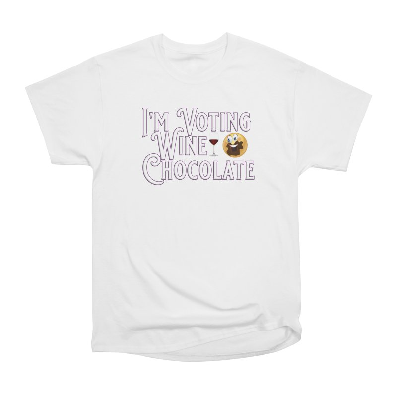 Voting Wine Chocolate Men's Heavyweight T-Shirt by Leading Artist Shop